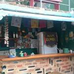 Bar and open outside area