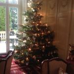 La salle avec le sapin de Noël