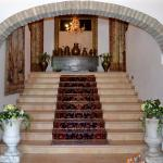la scalinata che porta alle stanze