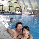 en la piscina cubierta