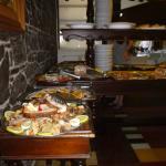Servicio buffet del almuerzo