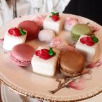Petit Fours and Macaroons.