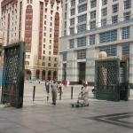 Haram Gate # 15 behind is Hotel
