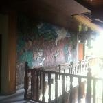 Панно на стене отеля