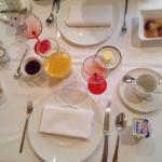 Le petit déjeuner ...