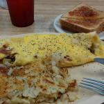 Another great meal. This is the western omelet and is very filling, comes with hash browns and t