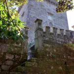 Escalera de acceso a los jardines