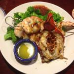 Red Lobster - seafood combo dish