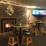 Mickey Finn's - fireplace in bar area