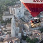Ubicación del Hotel en el casco antiguo de Girona a vista de globo