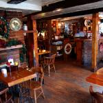 Sit in our cozy Pub area