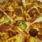 "Split View of Ridgeway Special Pizza 12"""