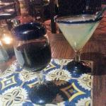 Margarita and a nice merlot...