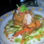 Sea Bass with all veggies as per special request..very good!