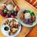 A complete Vegan Healthy meal by Earth Cafe Bali