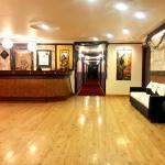 Lovely authentic Devdar wood flooring in lobbyy