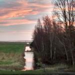 Sonnenaufgang von der Terasse