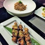 Lobster Rice & Chicken skewers