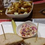 Montreal Smoked Meat sandwich and Poutine!