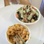 Greek Quinoa Salad and Mac N' No Cheese