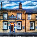 The Globe, Glossop. Painting © 2015 Peter Topping, Paintings from Pictures