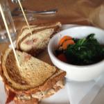 Turkey Reubin wih Kale, Roasted Garlic & Carrots as a side