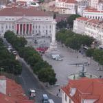 Vista su Praca Rossio,da Santa Justa, Lisbona