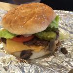 Really juicy cheeseburger