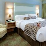 King Bed Guest Room at the Crowne Plaza Lansing West