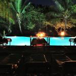 Candlelightdinner am pool