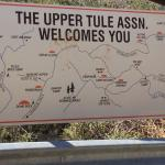 A tourist map at road side