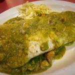 Pork Burrito with green sauce