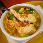 A cup of chicken soup