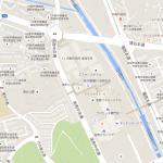地図を載せておきます。中央のエミナースボウルがスパ棟、その北側がホテル棟です