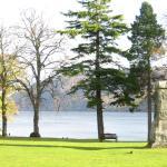 Jardin sobre el lago