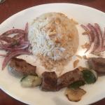 Lamb Kabob with rice