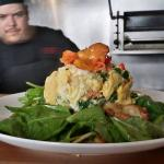 Parmesan spinach scramble