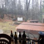 Vue extérieure vers le Spa, Table de picnic, Foyer et BBQ