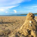 I had a private beach to build my own sandman.