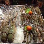 Fresh seafood from Thai Restaurant in front of the hotel and very reasonable price