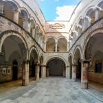 The interior courtyard of the Sponza Palace.