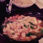 kimchi ramen w/ tofu & wontons