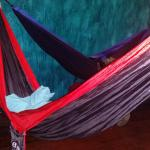 This is what the hammocks look like.