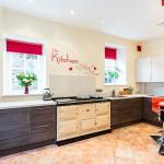 The newly refurbished kitchen