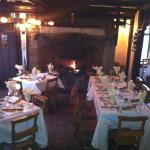 The restaurant and open fire
