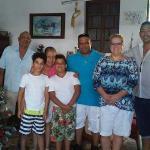 Familia en Hostal casa azul Cienfuegos Cuba