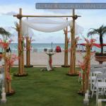 acqualina resort miami wedding pictures featuring decor and floral arrangements