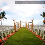 beach ceremony design picture ideas at the Acqualina Miami  Hotel