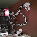 The slightly wacky decor is charming and very interesting