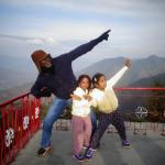 Everyone was so excited with the view at Lal Tibba